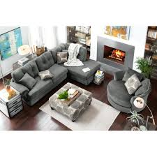 chaise glamorous sectional sofa with chaise and ottoman in sofas