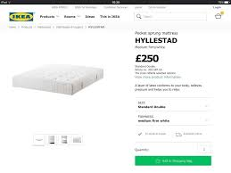 double bed frame brusali and mattress hyllestad by ikea 150 ono