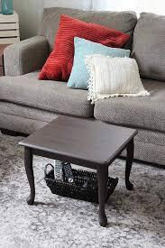Space Coffee Table End Table Upcycled As A Small Space Coffee Table Stow Tellu