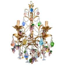 Colored Chandelier Vintage Blown Multi Colored Murano Chandelier For At 1stdibs