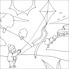 kite printable coloring pages infocap