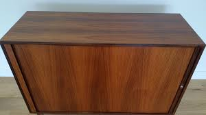 Tambour Doors For Kitchen Cabinets Danish Rosewood Tambour Door Cabinet By Marius Byrialsen For Nipu