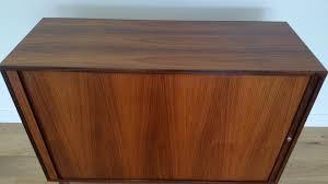 danish rosewood tambour door cabinet by marius byrialsen for nipu