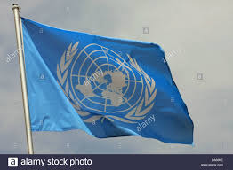 Picture Of Un Flag Blue Flag Of The Un United Nations Organisation That Move In The