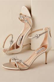 bridal shoes strappy heel gold in bhldn