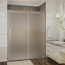 frosted glass interior doors home depot aston moselle 56 in to 60 in x 75 in completely frameless