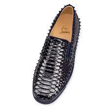 pik boat men u0027s flat night python crystal men shoes christian