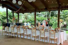 table and chair rentals big island venues paradise gourmet