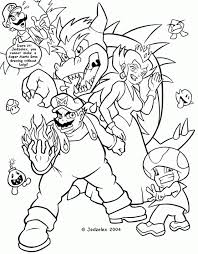 pictures mario characters kids coloring