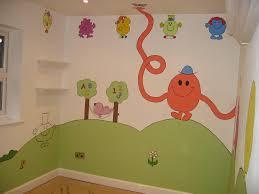 mr men chidren s nursery mural magical murals mr men magical murals