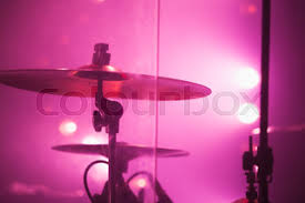 Drum Set Lights Drum Kit On Stage Lit By Red Light Stock Photo Colourbox