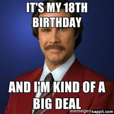18th Birthday Meme - it s my 18th birthday and i m kind of a big deal