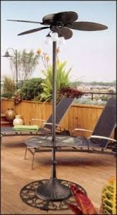 outdoor standing fans patio standing ceiling fan outdoor free fans with lights home