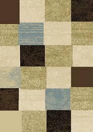 Squares Rug Modern Geometric Squares 2x3 Area Rug Contemporary Carpet Approx