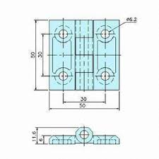 Cabinet Door Dimensions China Cabinet Door Hinge In Dimensions Of 50 X 50mm With Matte
