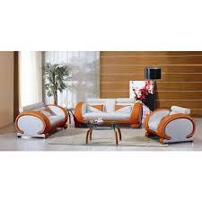 7391 orange u0026white living room furniture
