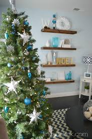Blue White Christmas Decorations by Come On In Christmas Home Tour 2014