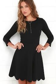 black skater dress skater dress sleeve dress lbd fit and flare dress 56 00
