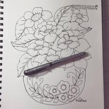 Vase Of Flowers Drawing Pencil Sketch Of Flower With Vase 16 Flower Drawings Jpg