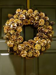 pinecone wreath stella diy gold glammy pinecone wreath