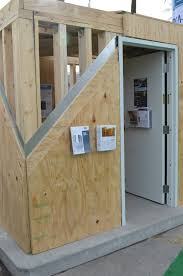 home plans with safe rooms wood frame and steel sheathing tornado safe room youtube