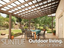 Design Ideas For Suntuf Roofing This Large Patio Space Can Be Used Year Thanks To A Suntuf