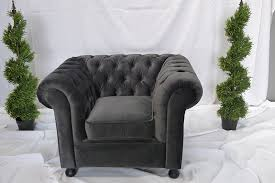 Chesterfield Sofa Hire Grey Velvet Chesterfield Inspired 3 Seat Sofa Funky Furniture Hire