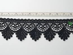 black lace trim heavy venice style black lace trim edging per metre by the
