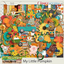 gingerscraps kits my little pumpkin by clever monkey graphics