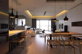 cuisine salon salle à manger design interieur cuisine ouverte salon salle manger blanc noir