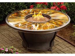 Fire Pit With Glass by Oakland Living Moonlight Aluminum 48 Round Gas Firepit Table With
