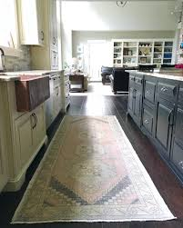 Farmhouse Kitchen Rug Farmhouse Kitchen Vintage Rug Oushak Rug Two Toned Kitchen