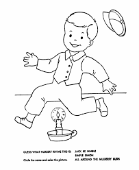 nursery rhyme coloring pages getcoloringpages coloring pages
