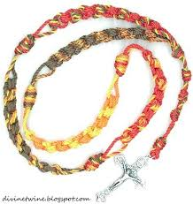 rosary twine 36 autumn rosary twine collection ladder knot twine rosary made