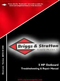 outboard repair manual e book 275110 briggs u0026 stratton