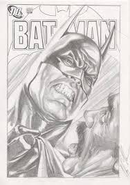 alex ross batman face sketch