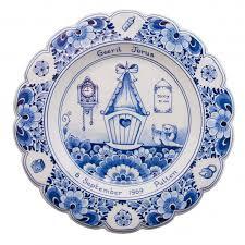 birth plates borden heinen delfts blauw