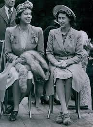 princess elizabeth and her sister princess margaret photographed