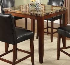 contemporary counter height table 7 piece counter height set with faux marble top