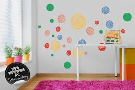 polka dot wall decal colorful shapes wall decal for kids zoom