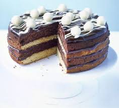 white u0026 dark chocolate cake recipe bbc good food