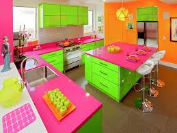 kitchen beautiful green pink kitchen theme ideas with green
