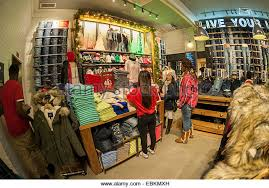 shoppers in american eagle outfitters stock photos shoppers in