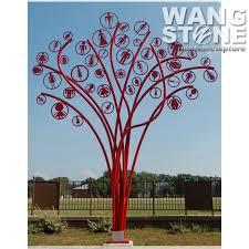 painted outdoor stainless steel metal tree sculpture buy metal