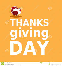 thanksgiving day card with turkey and text in minimalist flat