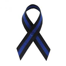 thin ribbon thin blue line awareness ribbons