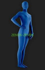 navy blue full body lycra spandex silk unisex zentai suit