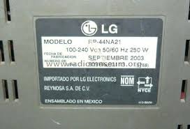 Tv Rp 44 Tv Rp 44na21 Television Gold Co Ltd Lg Electron