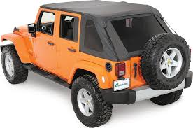 jeep wrangler unlimited softtop rage products 106035 complete trail top frameless top for
