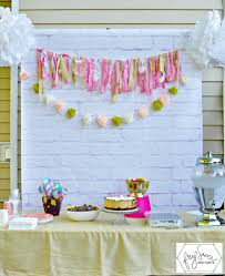 diy view diy photo backdrop birthday party home interior design